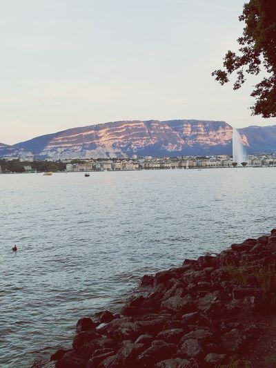 Landscape Jetdeau Swiss Afternoon