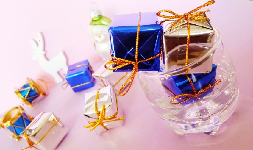 EyeEm Selects Celebration No People Indoors  Christmas Ribbon - Sewing Item Gift Defocused Sweet Food Christmas Decoration Day Anise