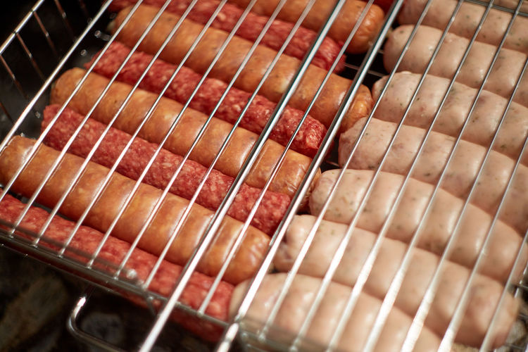 High angle view of bread in container