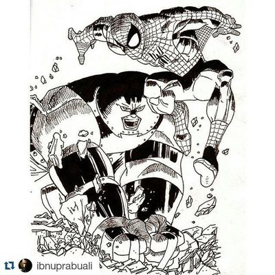 Repost @ibnuprabuali with @repostapp ・・・ Art Illustration Drawing Draw Picture Photography Artist Sketch Sketchbook Paper Pen Pencil Artsy Instaart Gallery Masterpiece Creative Instaartist Graphic Graphics Artoftheday Marvel Comic Juggernaut spiderman amazingspiderman peterparker cainmarko mutant