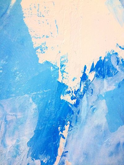 Красками на стене Close-up Textured  Abstract Paint Backgrounds Color On The Wall Blue Full Frame Weathered Built Structure No People Outdoors Day Architecture