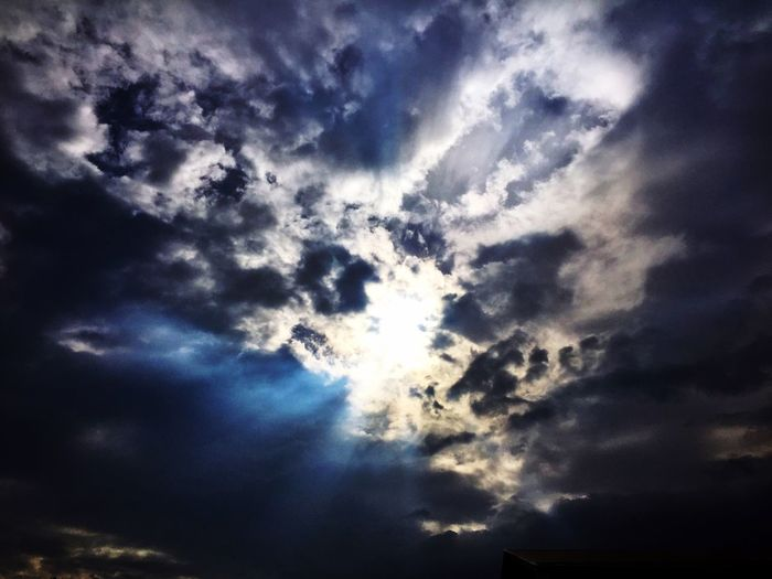 In the darkest of hours, remember that the light of the Risen Lord will always shine and direct our path. Happy Easter everyone! Happy Easter Inspiration Clouds Clouds And Sky Sun Light Lookingup Light In The Darkness Darkness And Light Eye4photography