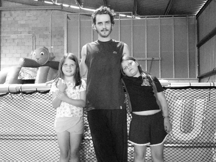 RePicture Masculinity Imogen and Kyann with big brother Daniel, at the new jump park😊