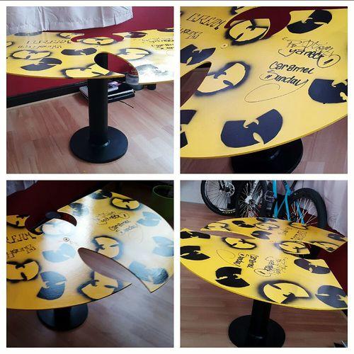 Wutang Wutangforever Wutangtable WuTangAintNothingToFuckWith Caramelsunday Protectyaneck Indoors  Selfmade Artwork Selfmade Creativity At Home