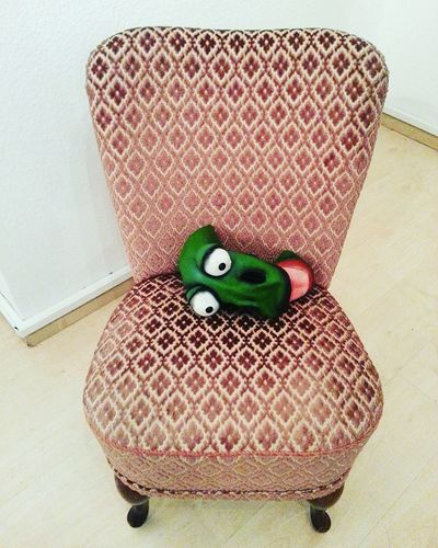 Happy Halloween 😱 No People Textured  Indoors  Frog Frog Frog Eyes Cocktail Chair Chair Chair Art Mask Helloween Helloween🎃🎃🎃