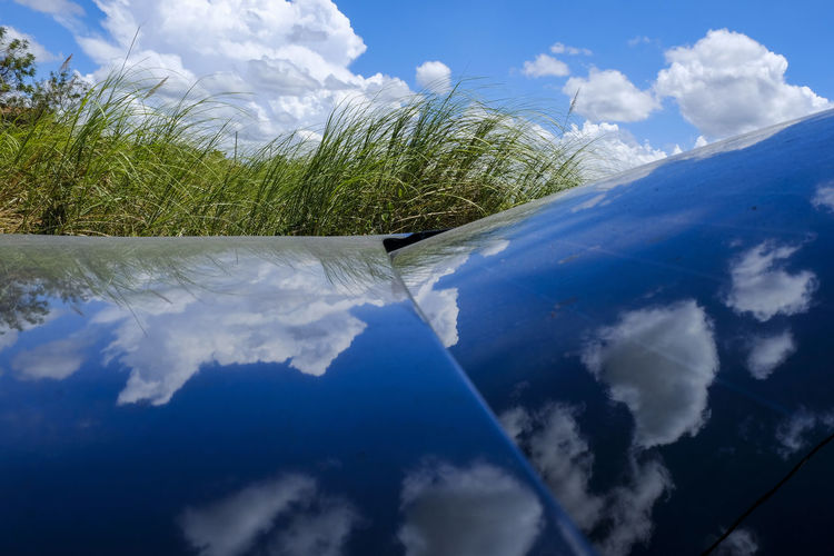 Beauty In Nature Blue Cloud - Sky Day Environment Grass Green Color Growth Idyllic Land Nature No People Outdoors Plant Scenics - Nature Sky Sunlight Tranquil Scene Tranquility White Color My Best Photo 17.62°