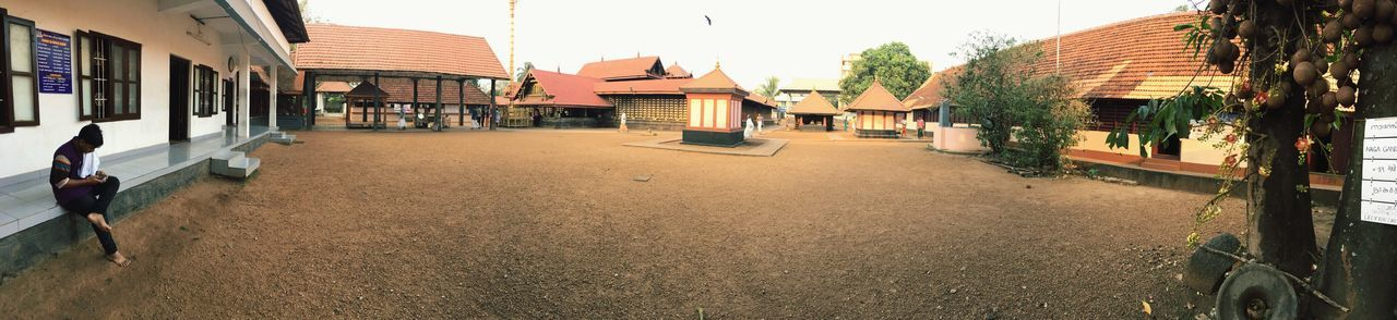 Temple Kerala Architecture Built Structure Outdoors Real People Panaroma
