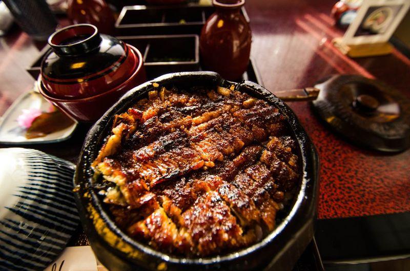 Kabayaki Kabayaki Japanese  Japanese Food Fish Food And Drink Food Freshness Ready-to-eat Indoors  Table Barbecue