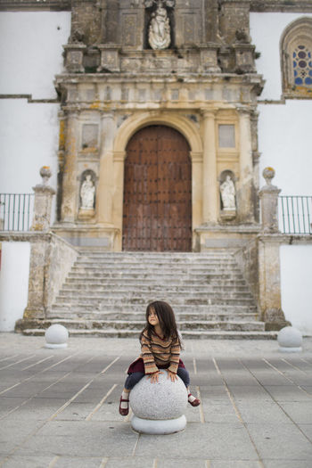 Kids playing on street while traveling in Spain SPAIN Travel Destination Family Travel With Little Kids Kids Having Fun Old City White City Routes White City Spa