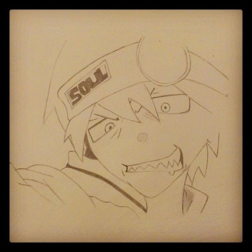 Anime Souleater SoulEaterEvans drew this in class today. Gotta Finnish it I like it