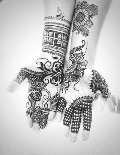 Mehendi Indian Wedding Weddings Around The World Monochrome Tatoo Hands