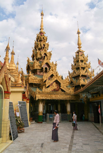 Yangon Architecture Building Exterior Built Structure Burma Day Men Myanmar Outdoors People Place Of Worship Real People Religion Sky Spirituality Sule Paya