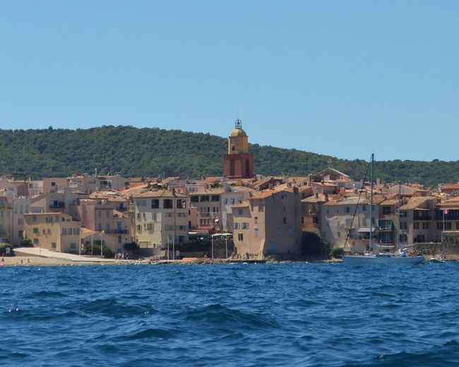 Saint Tropez Blue Waterfront Clear Sky Sea Azure
