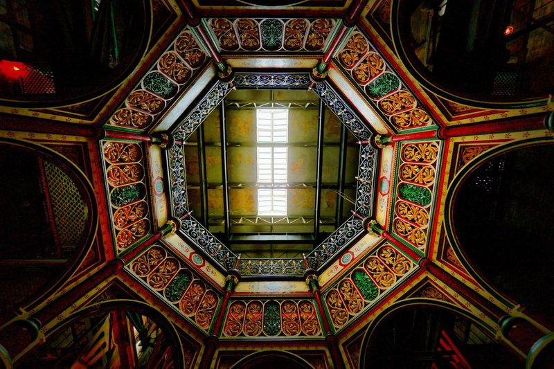 Crossness Pumping Station Architecture Built Structure Indoors  Pattern No People Ceiling Design