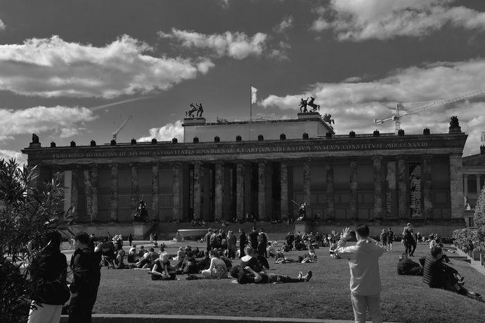 Bnw_friday_eyeemchallenge Bnw_street Berliner Ansichten Real People Built Structure Travel Destinations Outdoors People