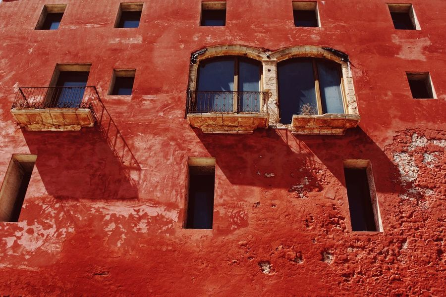 Windows from one of the towers in Ibiza Old Town, Dalt Vila Colorsandpatterns Photography Architecture Weathered Building Exterior Old