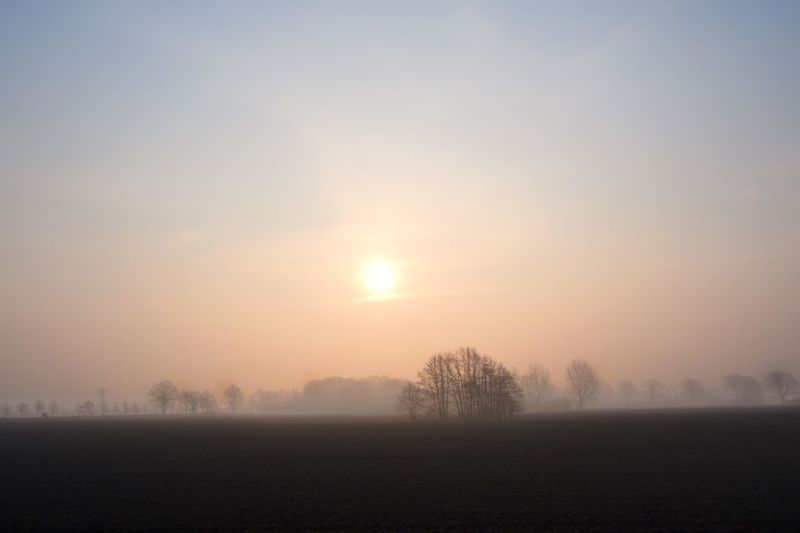 Sunset Sky Fog