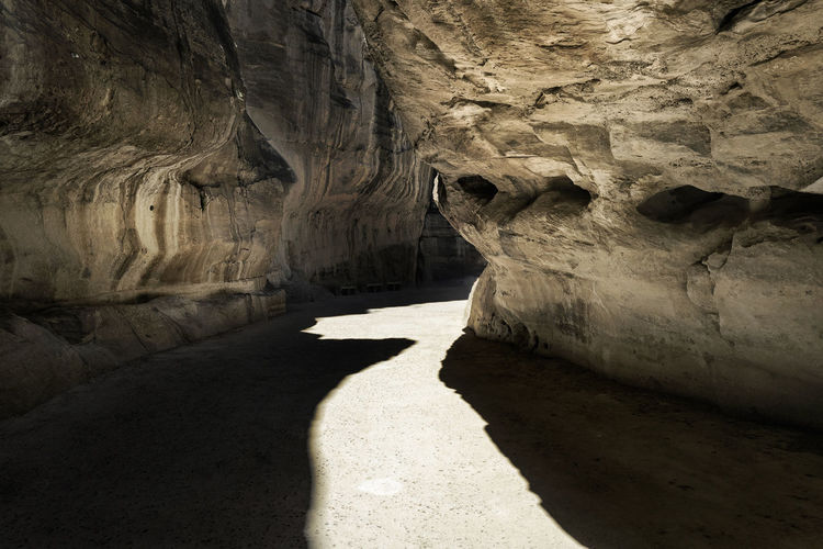 Rock formations in cave