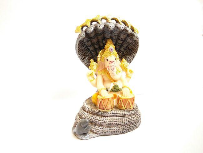 Lord Ganesh, one of hindu sacred deities RBK OnePlusX Smartphonephotography White Background Day Close-up Studio Shot Ganesha Ganesh Ganeshji GaneshChaturthi Elephant Face Hindu Hinduism India Religion Belief Idol Sacred Worship God