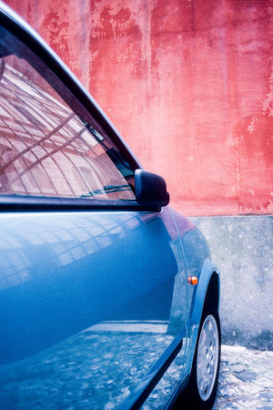 Abstract Blue Car Colour Colourful Geometric Italy Lancia Red Roma Rome Street Terracotta