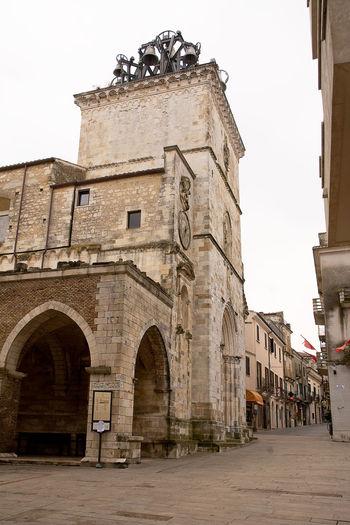 Church of Holy Maria Major in Guardiagrele (Abruzzo-Italy) Abruzzo Architecture Bell Building Exterior Chieti Church City Façade Guardiagrele Holy Italian Italy Major Maria No People Portal Religion Stone Town Village
