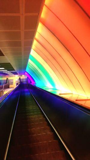 Istanbul Metro Lights Turkey Levent Colors