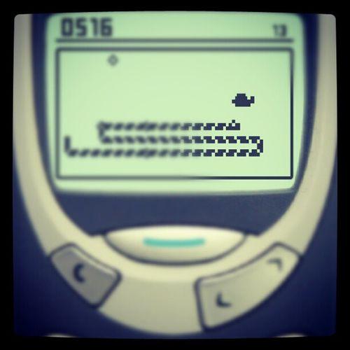 Playing some Snake2 on my Galaxy Nexus . fun memories nokia3310