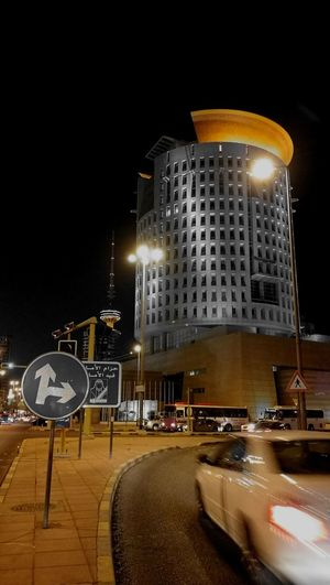 Illuminated Building Exterior Architecture City Night Modern City Street Transportation Built Structure Outdoors City Street Modern Architecture Financial District  Urban Skyline Office Building