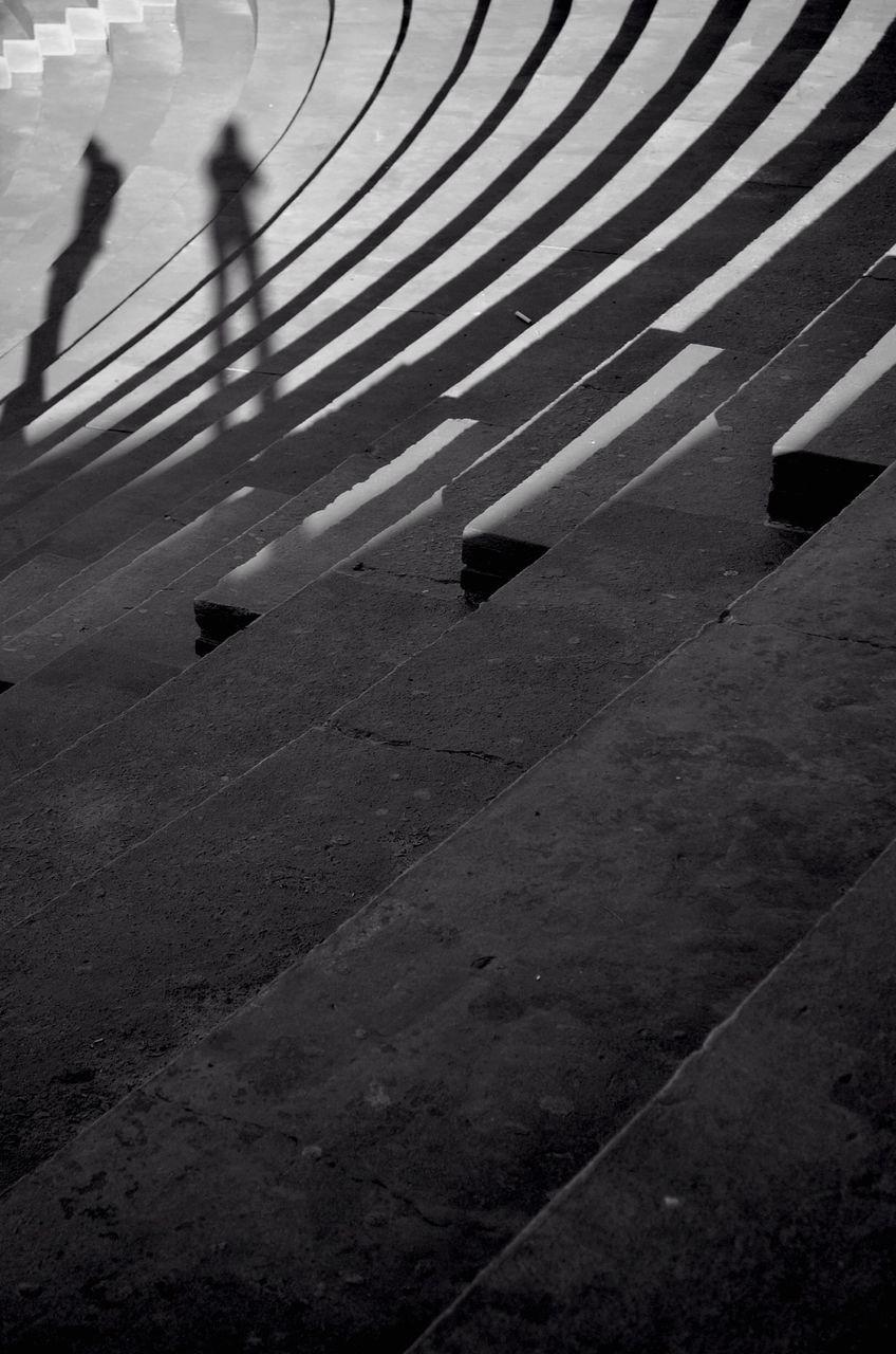 Shadow Of People On Steps