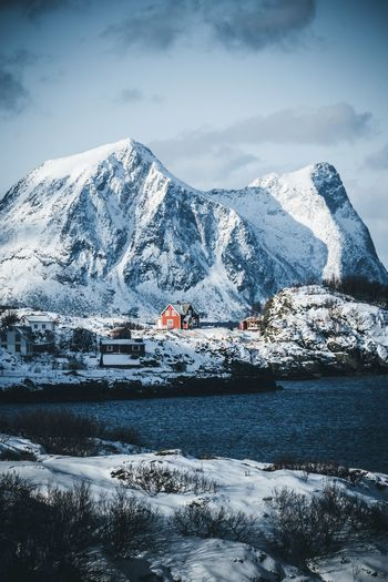 Living in Norway Senja  Norway Cold Temperature Winter Snow Mountain Sky Scenics - Nature Water Beauty In Nature Cloud - Sky Nature Mountain Range Transportation Snowcapped Mountain No People Tranquility Tranquil Scene Day Building Exterior Outdoors