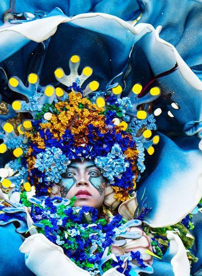 Jember Fashion Carnival Flower Water Beautiful Woman Young Women Portrait Beauty Beautiful People Multi Colored Swimming Pool Happiness