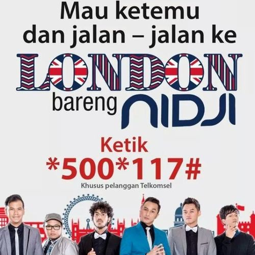 Come on, join us!! @nidji Nidjiofficial Nidjiholic Telkomsel Melon traveling london destination refresh promote instapic photo funny instadian