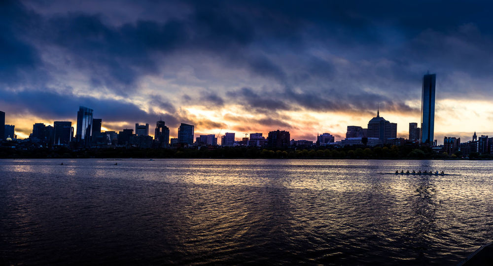 Urban Skyline Cloud - Sky Water Cityscape Dusk Skyscraper City Charles River Boston Crew Team