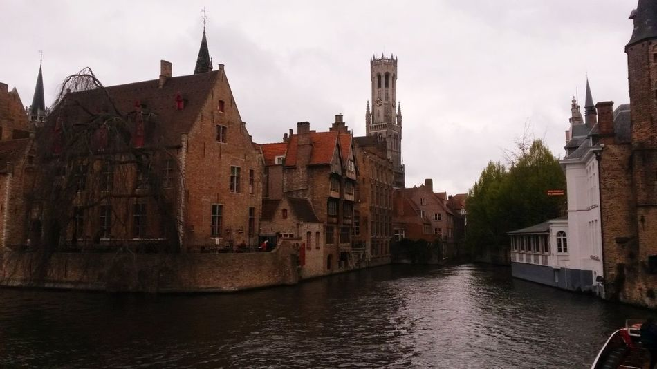 Architecture Canal Sky Waterfront No People Outdoors Day Belgium