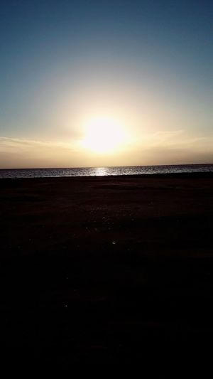 Perspectives On Nature Nature Sunset Scenics Silhouette Beauty In Nature Tranquility Tranquil Scene Sea Landscape Sky Outdoors Travel Destinations No People Water Beach Horizon Horizon Over Water Astronomy Day تونس جربة  ڨلالة