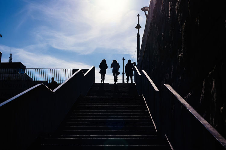 Warsaw in Spring The Week on EyeEm Light And Shadow Capture The Moment The Art of Street Photography Nikonphotography Nikon D750 Spring Traveling Daily Life Architecture Staircase Built Structure Steps And Staircases Railing Sky Real People Direction The Way Forward Men Group Of People Lifestyles Low Angle View Women Nature Silhouette Day People Adult Full Length Outdoors