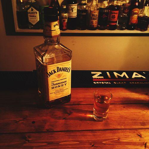 ひとり酒 宅飲み ホームバー バーカウンター DIY At Home Home Bar Jackdaniels Bourbon