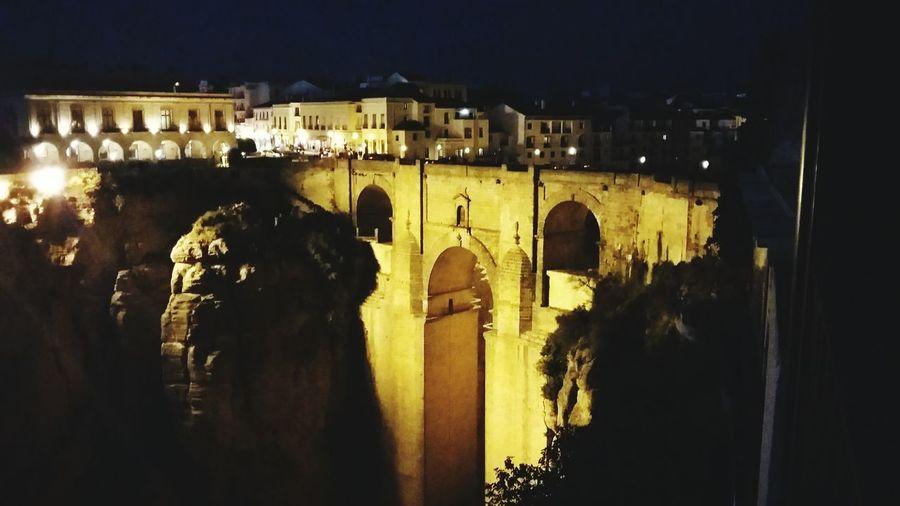 Ronda Spain Beautiful city Built Structure Illuminated History City Night Medieval