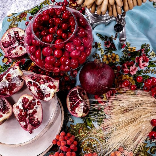 Russian Winter Red Fruit Christmas Decoration Food Food And Drink No People Healthy Eating Sweet Food Day Outdoors