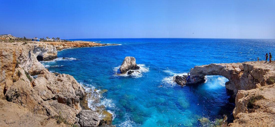 The whole love Cyprus Ayia Napa Beach EyeEm Selects Water Sea Beach Blue Beauty Clear Sky Rock - Object Sand Sky Horizon Over Water Seascape Coast Wave Seashore Shore Coastal Feature Coastline Island Tide