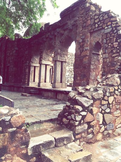 Old architecure Built Structure Building Exterior Architecture Tree Old Ruin Day Outdoors Abandoned Cultures Hauz Khas Village Old Mosque