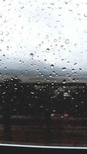 It's raining... again Water Backgrounds Full Frame Window Drop Close-up Sky Rainy Season RainDrop Rainfall Wet Glass - Material Droplet Glass Water Drop Rain