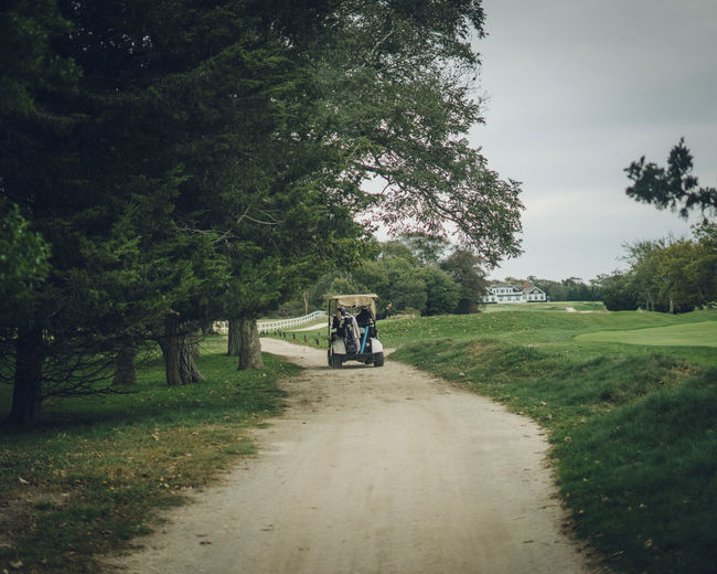 golf cart on a golf course Plant Tree Transportation Grass Green Color Nature Growth Land Day Mode Of Transportation Land Vehicle Tranquility Outdoors Road Direction Beauty In Nature Landscape Tranquil Scene The Way Forward Footpath