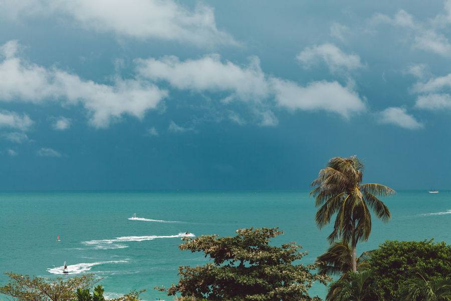 Sea Sky Water Cloud - Sky Beauty In Nature Scenics - Nature Horizon Nature Horizon Over Water Land Tranquility Tranquil Scene Day Tree Plant Beach Tropical Climate Outdoors No People Turquoise Colored