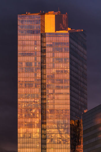 Modern Office Building Against Sky During Sunset