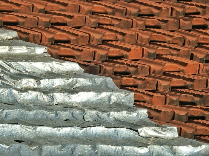 Silver Covering On Roof Tile