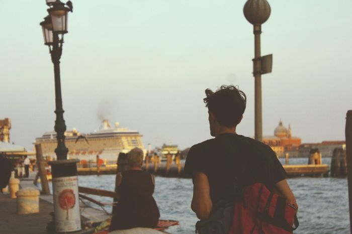 Hiking Ship Evening In The City On The Walk Bythesea Summertime People Venice Man