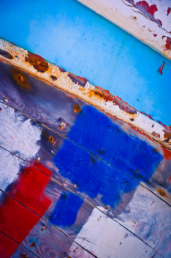 Abandoned Places Ship Graveyard Architecture Backgrounds Blue Boat Hulls Close-up Day Decay And Dereliction Decayed Beauty Full Frame Indoors  Low Angle View Metal Multi Colored No People Old Paint Pattern Red Color Rusty Turquoise Colored Wall - Building Feature Weathered Wood - Material