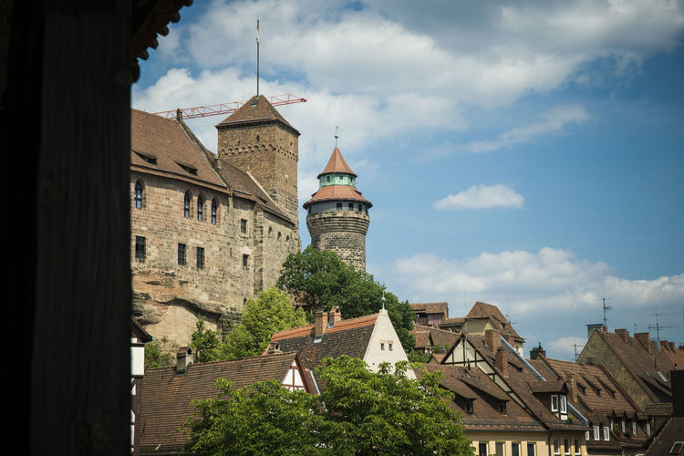 Nürnberg die Burg Architecture Building Building Exterior Built Structure Cloud - Sky Day History House Nature No People Place Of Worship Plant Religion Residential District Roof Sky Spire  The Past Tower Tree