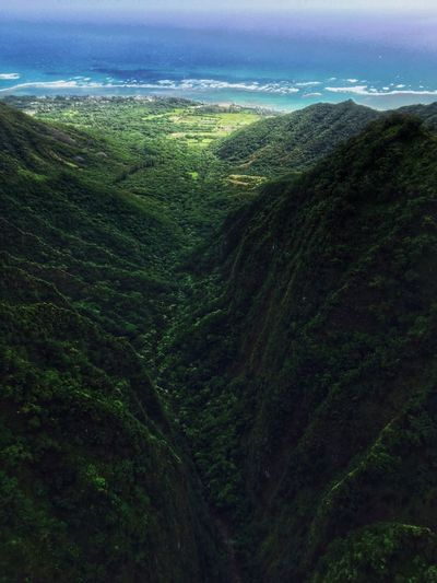 A Bird's Eye View Tourism Landscape Mountain Mountain Range Beauty In Nature Nature Gopro Landscape_Collection EyeEm Nature Lover Helicopter View  Hawaii Oahu Adventure Adrenaline